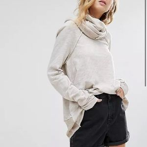 Free People Beach Cotton Cocoon Cowl Neck Top